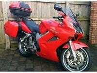 2004 Honda VFR800 Vtec (ABS) 22k Miles, FSH, Honda Luggage/Cases