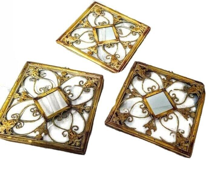 French Shabby Chic Mirrors 3 set