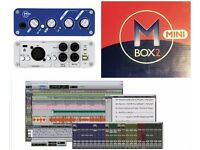 DIGI MBOX 2 MINI WITH PRO TOOLS LE 8 SOFTWARE INTERFACE MUSIC MIXER