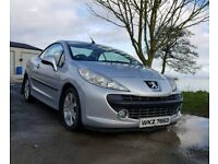 2007 Peugeot 207 convertible Diesel with full year MOT