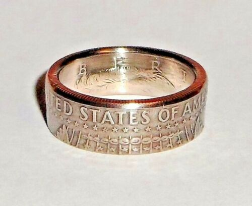 """""""Sealed"""" US PRIDE HALF DOLLAR handcrafted coin ring size 7-15 show your US pride"""
