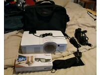 Optoma GT1080 3D 1080p Projector + HDMI Cable, ZF2300 Glasses & 80 inch Tripod Screen