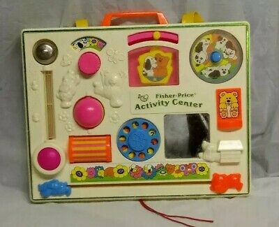 Vintage Fisher Price Activity Center Crib Toy 1134 Baby Toy 1973 1984