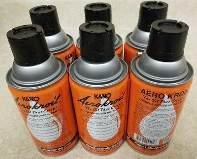 6ea Kano Aerokroil Kroil Penetrating Oil 10 Oz Aerosol New