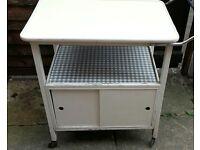 Vintage kitchen trolley storage unit shabby chic retro