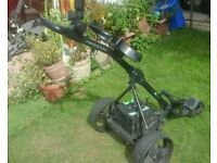 golf trolley electric in good condition