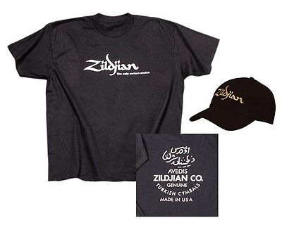 Zildjian Hat & T-Shirt Combo Size Extra Large XL Black Drummer Shirt Free Ship!