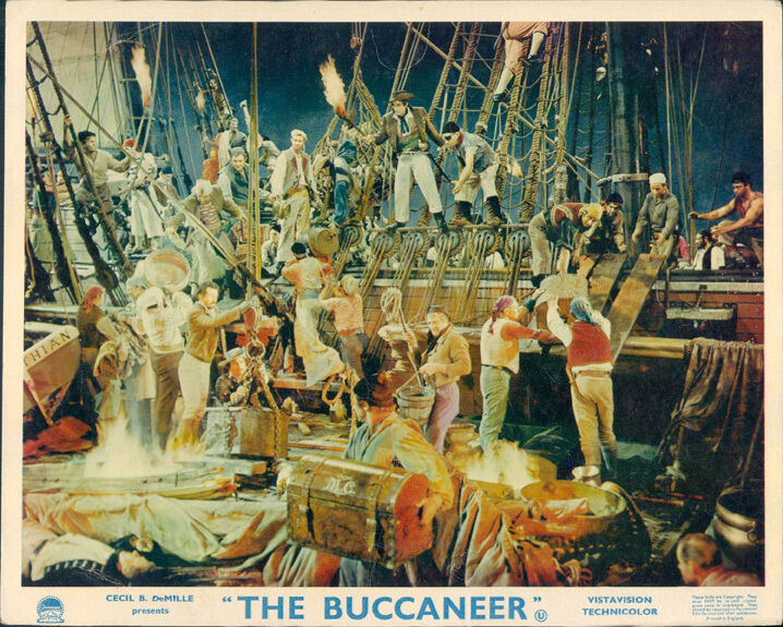 The buccaneer charlton heston yul brynner cecil b demille lobby card