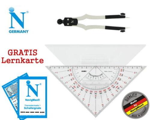 Navigationsset Navigationsbesteck Marinezirkel Kursdreieck NEU 50 Stück