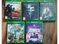 Xbox one games lot x5
