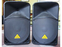 1 x Pair Behringer B112D Active PA Speakers