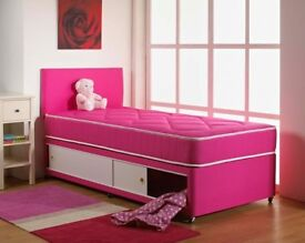 Brand new special 2ft 6 pink complete bed with mattress