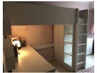 IKEA Stuva high bed with storage