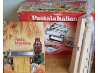 Imperia pasta maker, drying stand and book