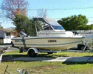 Sea Pro 190WA 19ft Walk Around Cuddy Cab Fishing Boat Revesby Bankstown Area Preview