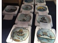 Set of 9 The Art of Fishing Collection plates