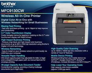 BROTHER MFC-9130CW Wireless Color Laser Printer Cornwall Ontario image 2