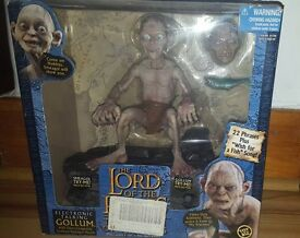 Lord of the rings talking gollum figure