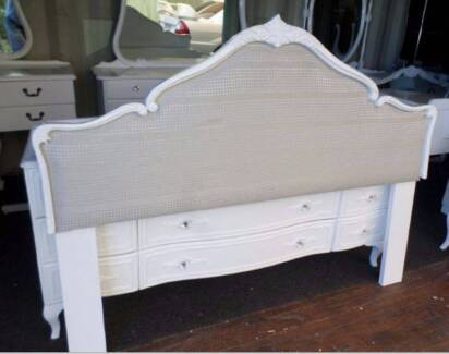 ★ FRENCH PROVINCIAL QUEEN ANNE DESIGN NEW PADDED BED HEAD ★ Belmont Brisbane South East Preview