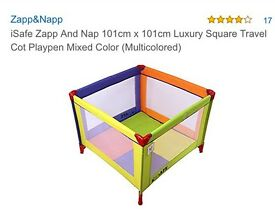 iSafe Zapp Square Travel Cot and Playpen