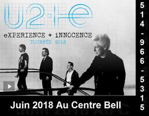 U2, 06/06/18, Centre Bell, Section Rouge 120-T, 118-DD
