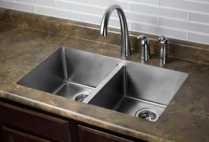 undermount kitchen sink | 16 Gauge | Basket Style Drainer| 32 by 19 by 10 | 5 year Warranty