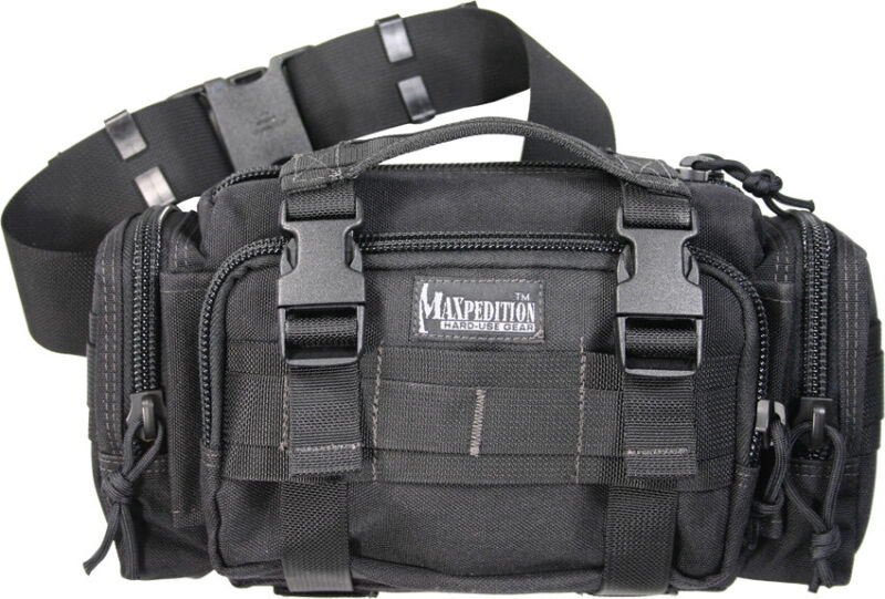 Maxpedition 0402B Black Proteus Versipack Compact Tactical Bag