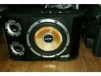 """12"""" Vibe black air vented V12 active subwoofer amplifier"""