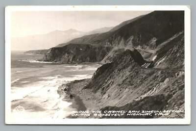 Pacific Coast Highway through Big Sur RPPC Carmel~San Simeon~Frashers Photo 1955 Big Sur Coast Highway