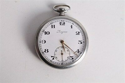 Antique Vintage Old Swiss Made Longines Open Face Mens Pocket Watch.