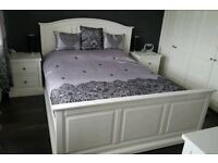 King size bed frame dressing table and bedside cabinets