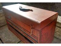 Metal tool box with sliding drawers toolbox