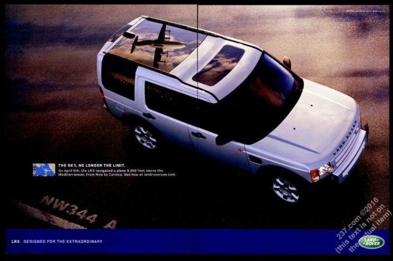 2006 Land Rover LR3 color photo vintage print ad