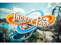 THORPE PARK TICKETS x 2 - valid until 2nd October 2017 - £30 for both