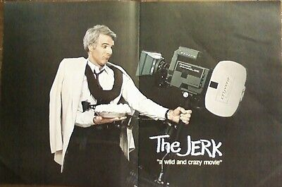 "BIG 14x22 ORIGINAL 1979 STEVE MARTIN ""THE JERK"" MOVIE LP CD PROMO AD"