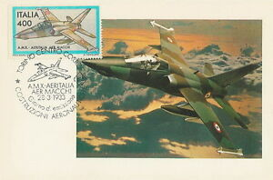Italy postcard maximum Aviation A.M.X. AERITALIA AERMACCHI airplane - Bystra Slaska, Polska - Italy postcard maximum Aviation A.M.X. AERITALIA AERMACCHI airplane - Bystra Slaska, Polska