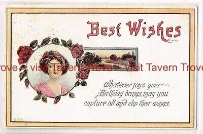 1914 BEST WISHES BIRTHDAY Gibson