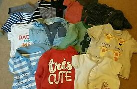 0-3 months baby boy clothes bundle