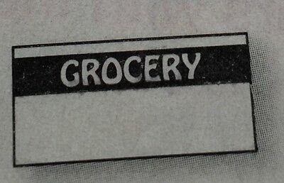 Black Grocery Labels For Monarch 1110 1 Case 255000 Made In Usa With Inkers