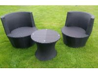 Rattan garden furniture bistro set