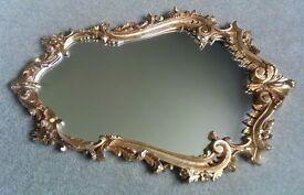 Large ornate Gothic-style mirror