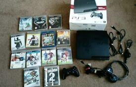PS3 SLIM BUNDLE WITH 13 GAMES