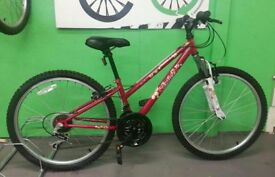 "Red Girls Bike - Apollo Entice 12"" Frame, 18 Speed, 24"" Wheels"