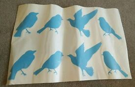 Blue bird decals