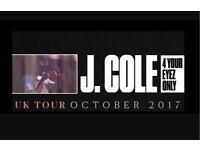 J Cole tickets x 4
