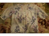 Ladies Mark's and Spencer Indigo blouse size 18