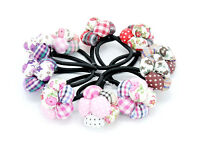 Flower Shape Ponytail Holder Scrunchies