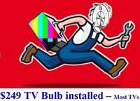 TV Bulbs & Lamps and In-Home Convergence Repair