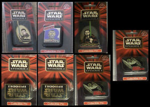 Star Wars Episode 1- Lot of 8 Collectible Character Pin Set RARE