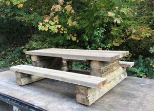 Hand crafted Log Picnic Tables on SALE
